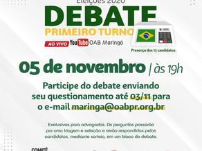Debate: advogados poderão enviar perguntas aos candidatos até no dia 03/11