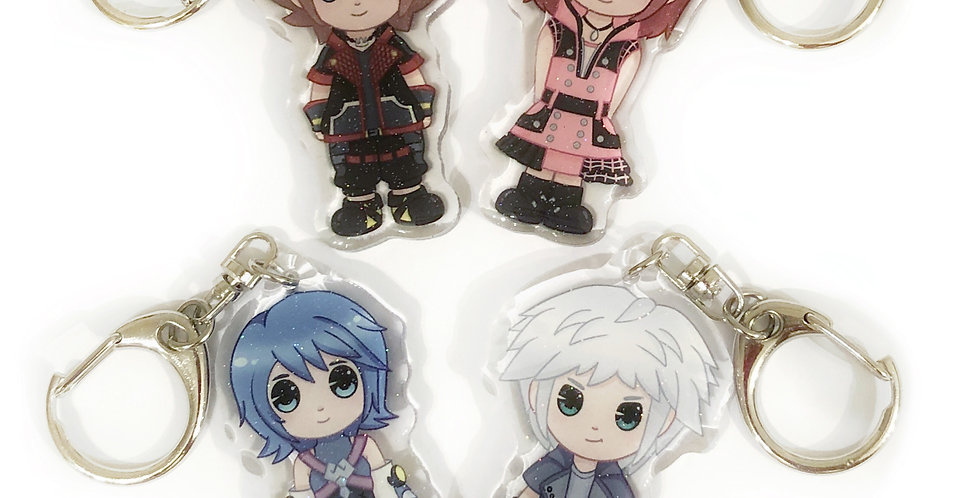 Kingdom Hearts Keychains - Set 1