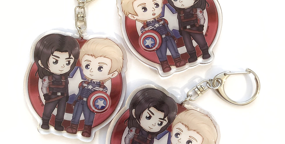 Steve & Bucky Keychain - Marvel Set