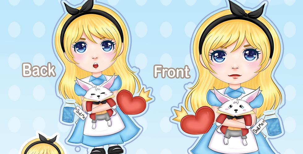 Alice in Wonderland Acrylic Charm
