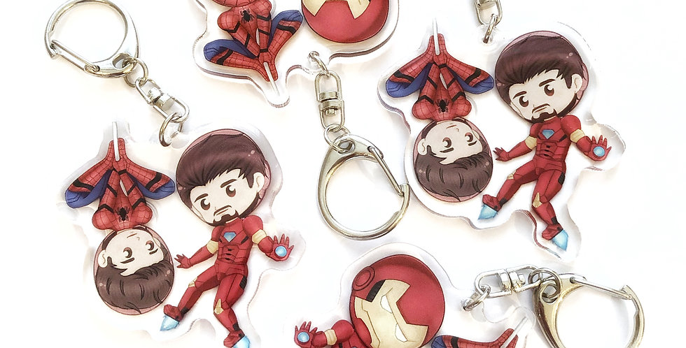 Peter & Tony Keychain - Marvel Set