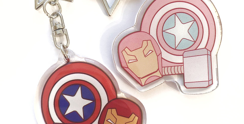 Original Trio Keychain - Marvel Set