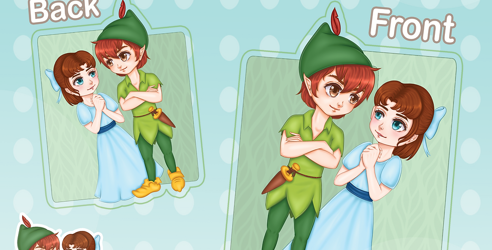Peter Pan & Wendy Acrylic Charm
