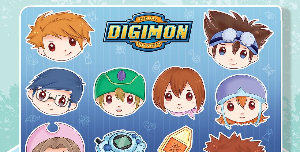 Digimon Sticker Sheet