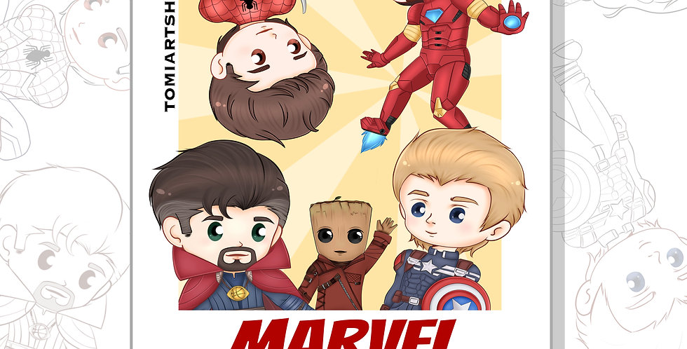 Marvel Coloring Book!