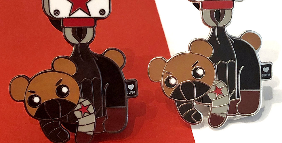 Bucky Bear Enamel Pin
