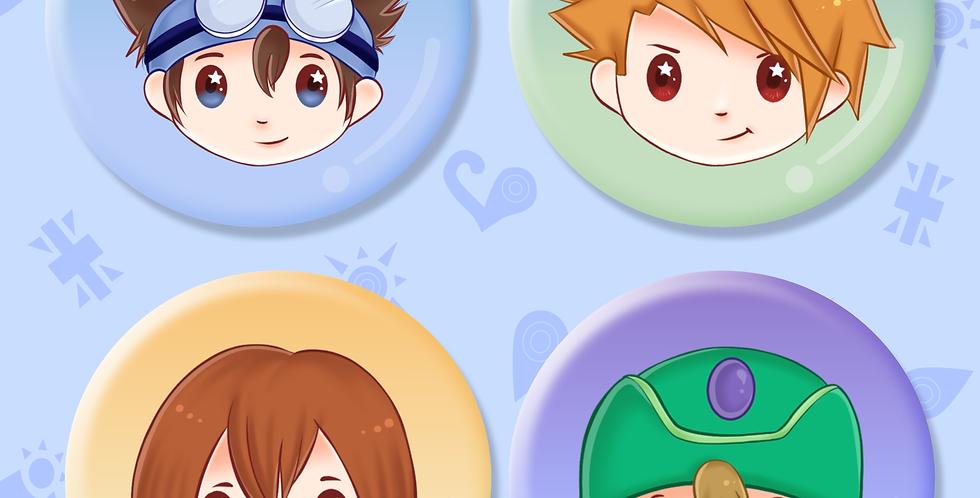 Digimon Badges Set