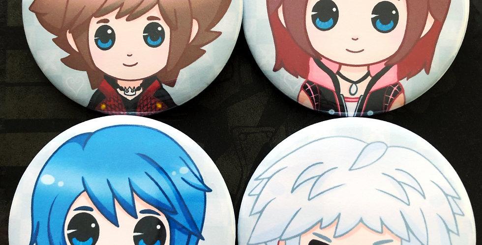 Kingdom Hearts Badges - Set 1