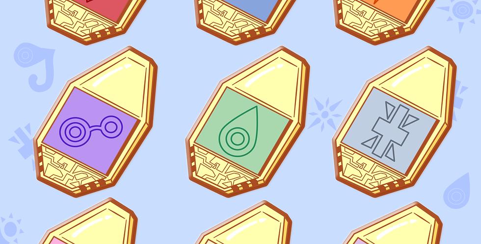 Digimon Crests Hard Enamel Pin