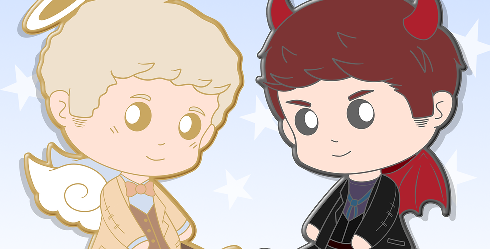 Good Omens - Enamel Pins