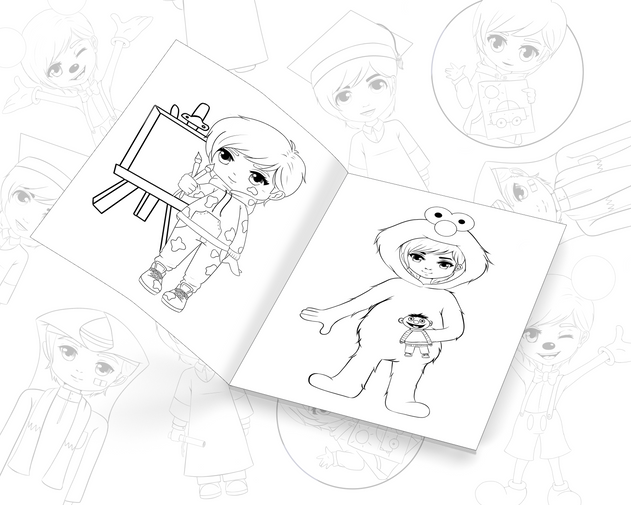 Coloring Book + Drawings