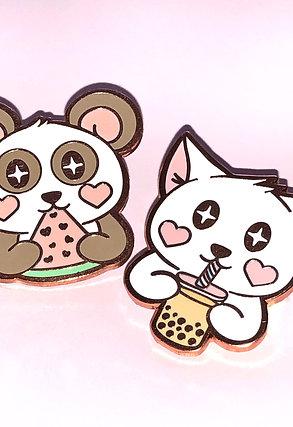 Pink Snack Time Enamel Pins
