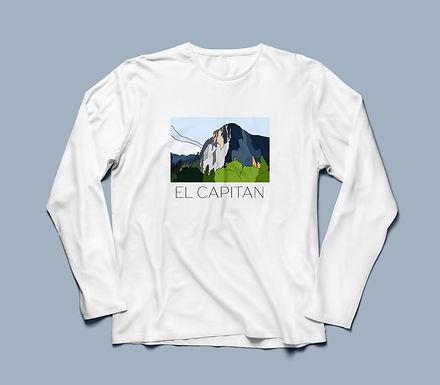 El Capitan Graphic T-shirt Long Sleeve V1