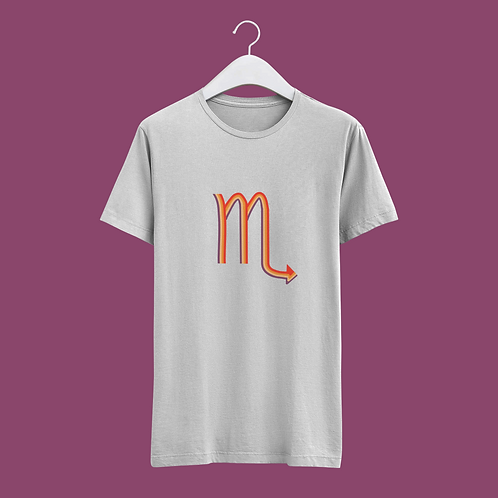 Scorpio Retro Star Sign T-shirt - Large Badge