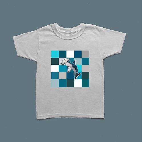 Kids Hammerhead Shark Patterned T-shirt