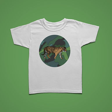 Kids Tiger Circle T-shirt