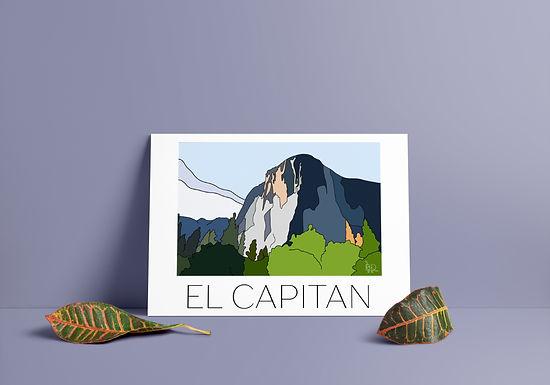 El Capitan V1 Hand Drawn Print - Black Writing