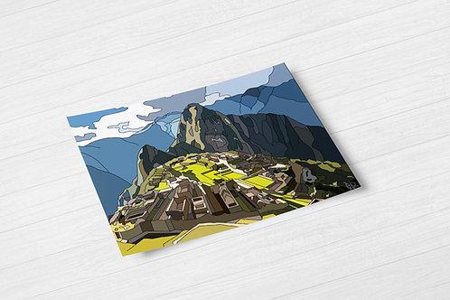 Machu Picchu Hand Drawn Print
