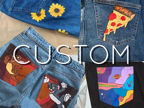 CUSTOM Hand Painted Jeans