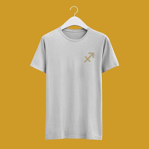 Sagittarius Retro Star Sign T-shirt - Small Badge