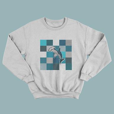 Hammerhead Block Patterned Sweatshirt/Jumper