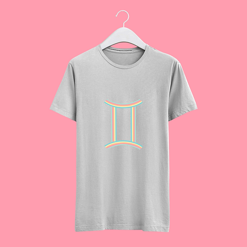 Gemini Retro Star Sign T-shirt - Large Badge