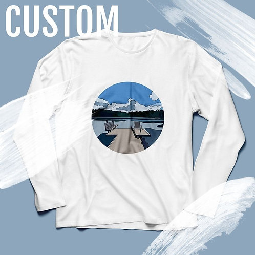Custom Hand Drawn Print Long Sleeve - Perfect Gift!