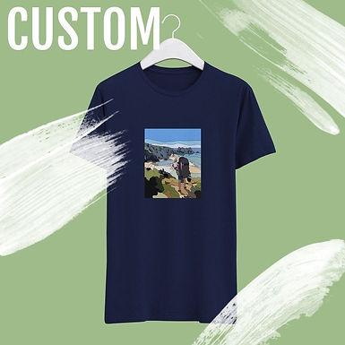 Custom Hand Drawn Print T-shirt - Perfect Gift!