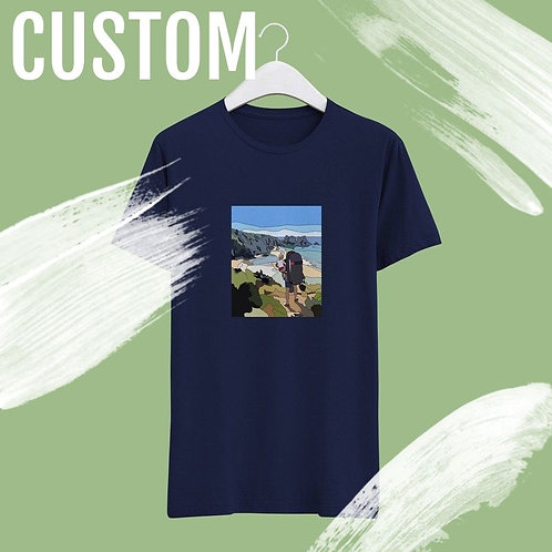 Custom Hand Drawn Print T-shirt - Perfect Gift!