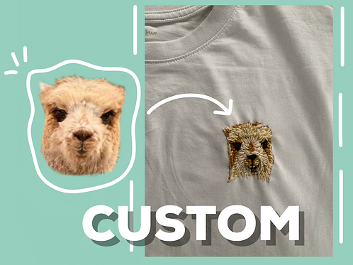 Custom Hand Embroidered Pet T-shirt