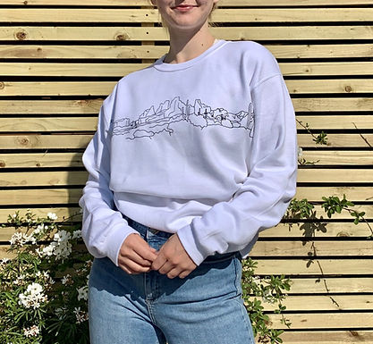 Desert Landscape White Sweatshirt