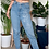 Thumbnail: Hand Painted Abstract Faces (Down Leg) Mom Jeans *Custom Size*