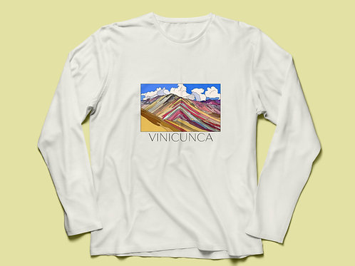 Rainbow Mountain/Vinicunca T-shirt Long Sleeve V2