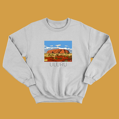 Uluru Landscape Graphic Sweatshirt/Jumper