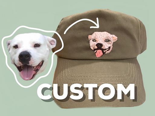 Custom Hand Embroidered Pet Cap