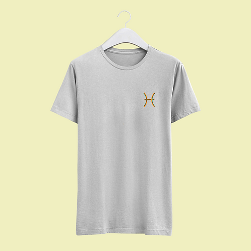 Pisces Retro Star Sign T-shirt - Small Badge