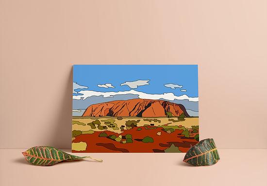 Uluru Hand Drawn Print
