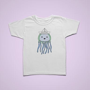 Kids Paper Hat Jellyfish T-shirt