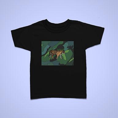 Kids Tiger Square T-shirt