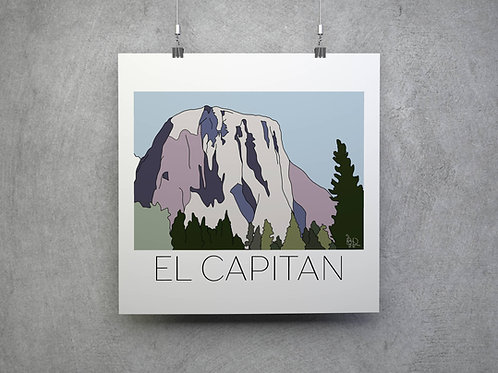 El Capitan V2 Hand Drawn Print - Black Writing
