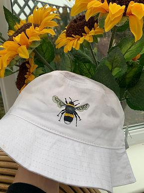 Hand Painted Bee Bucket Hat