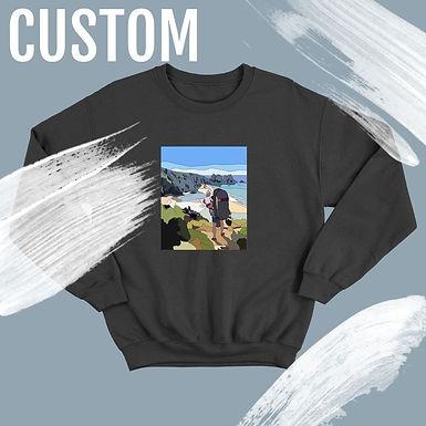 Custom Hand Drawn Print Sweatshirt/Jumper