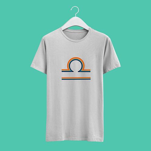 Libra Retro Star Sign T-shirt - Large Badge