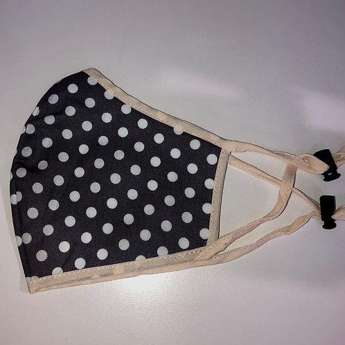 MSH - navy spot print non medical fabric mask