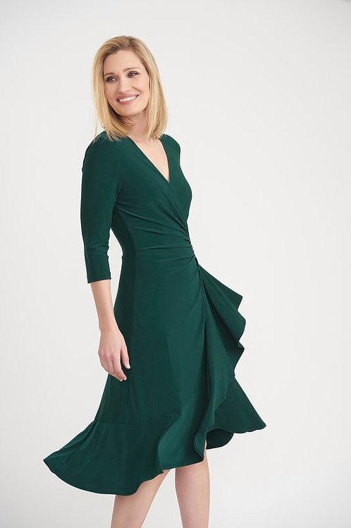 Joseph Ribkoff -  Navy wrap style Dress
