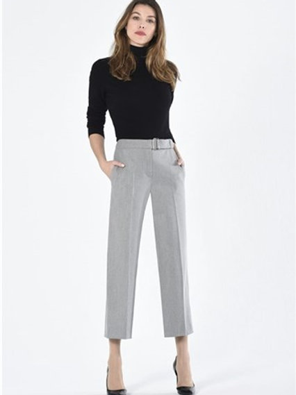 Robell - Charchol grey tailored culotte trouser