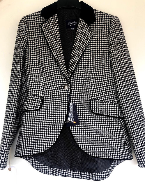 Bariloche - black and white dogtooth print blazer jacket