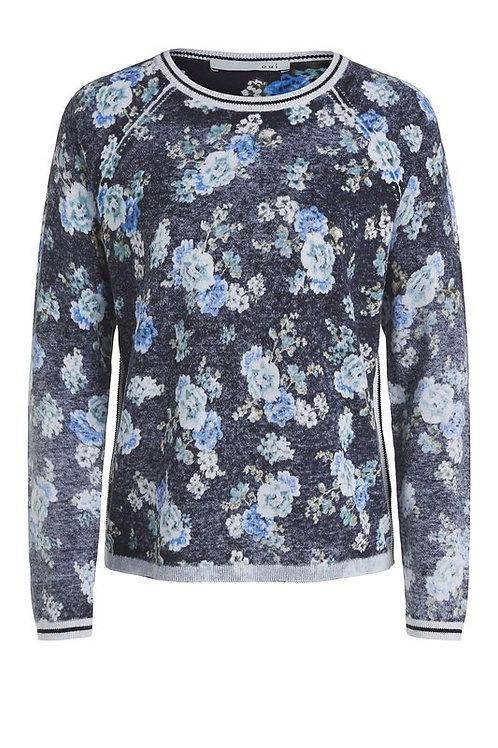 Oui - Floral Print Knit Jumper