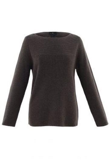 Marble - brown button shoulder jumper