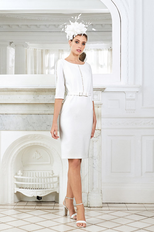 Luis Civit - Dress with sparkles on side of arm and belt